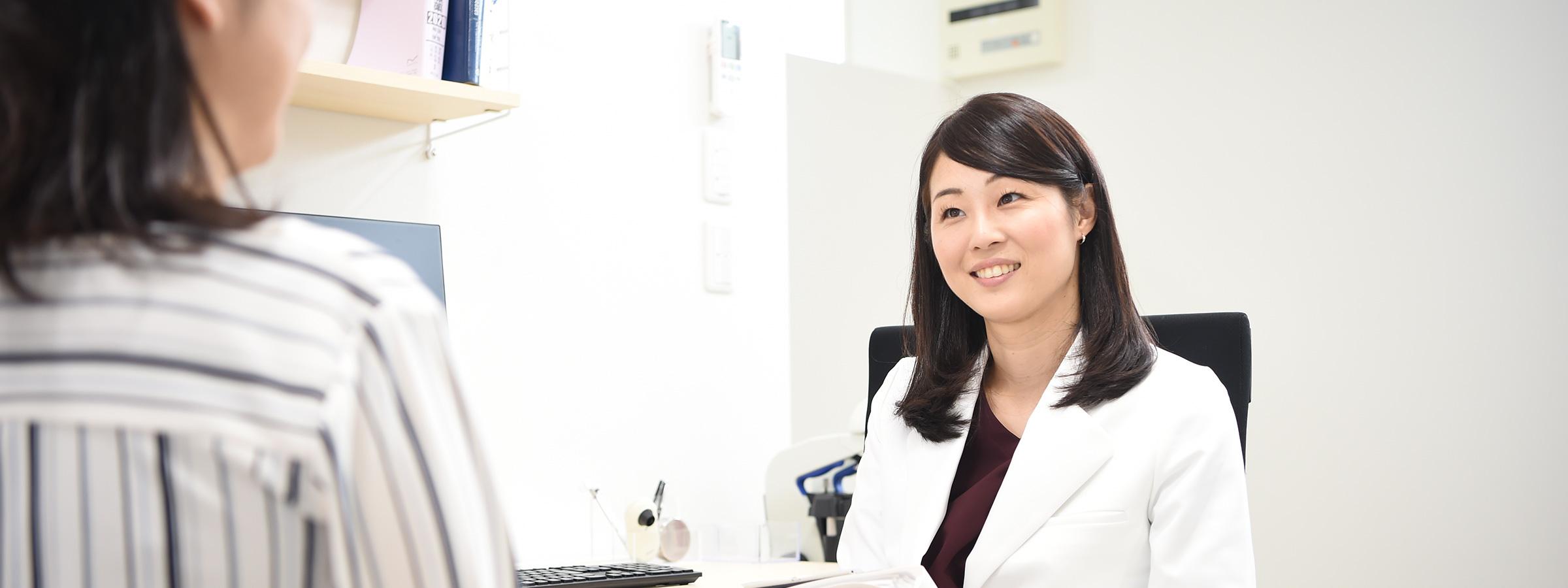大学病院で培った、女性医師による専門性の高い診療